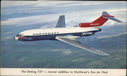 Northwest Airlines - Boeing 727 Postcard