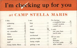 I'm Checking Up For You at Camp Stella Maris