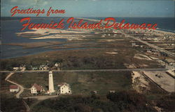 Aerial View of Coast and Fenwick Light