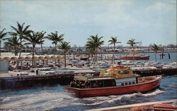 Boynton Inlet Docks - World Famous for its Deep Sea Fishing Fleet Postcard