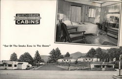 Crystal Courts Cabins Postcard