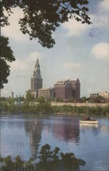 Travelers Tower and Connecticut River