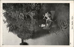 Canoeing on the River Postcard