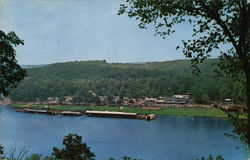 Bird's-Eye View of Rockaway Beach, Lake Taneycomo
