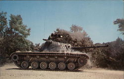 M-48 Tank in Action Postcard