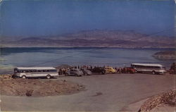 Bus and Cars Near Lake Mead, Lakeview Point