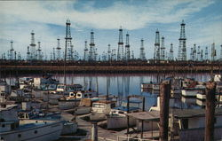 Oil Wells and Boat Landing, Terminal Island