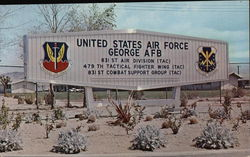 United States Air Force George AFB - Entrance Sign
