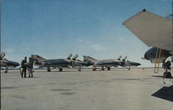 Flight Line of F-4E Phantom II Aircraft at George Air Force Base