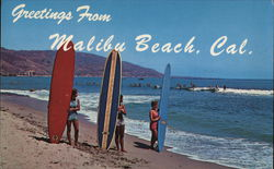 Greetings from Malibu Beach, Cal.