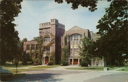 Ball State Teachers College - The Library and Assembly Hall Postcard