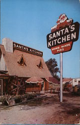 Santa's Kitchen Postcard