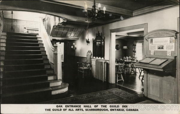 Oak Entrance Hall of the Guild Inn - The Guild of All Arts Scarborough Canada