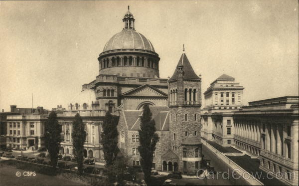 The First Church of Christ, Scientist and the New Publishing House - General View Boston Massachusetts