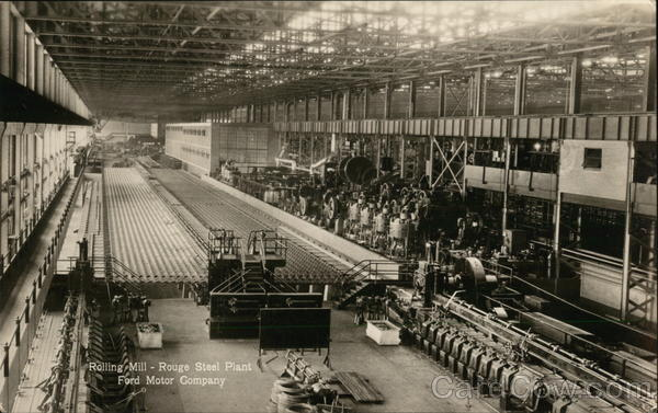 Ford motor company rolling mill rouge steel plant for Ford motor company in dearborn michigan