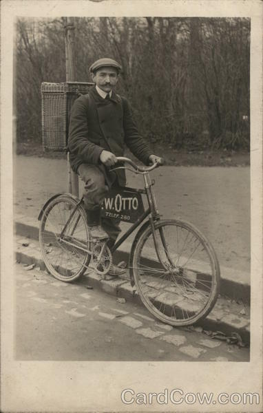 Early Bicycle Delivery W. Otto Bicycles