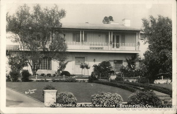 Residence of Burns and Allen Beverly Hills California