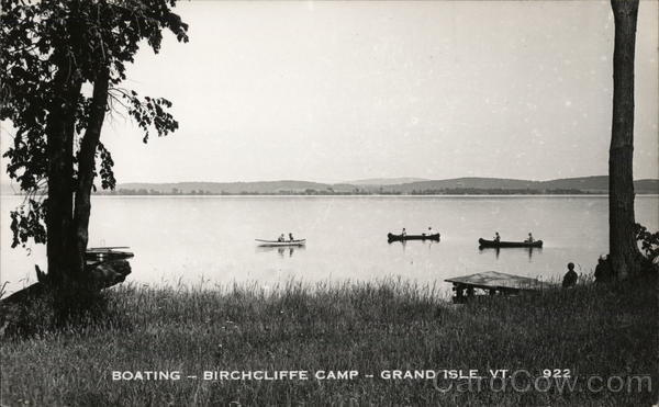 Boating - Birchcliffe Camp Grand Isle Vermont
