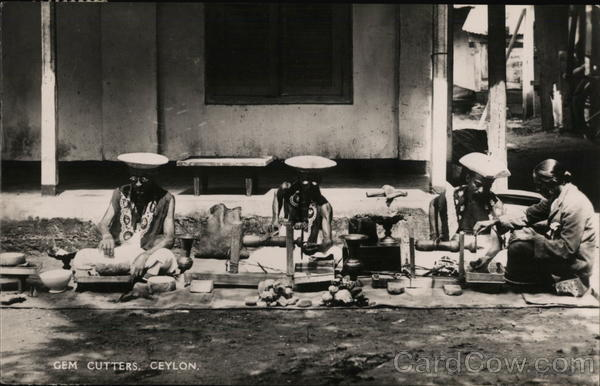 View of Gem Cutters Ceylon Southeast Asia