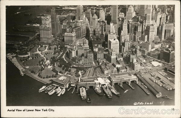 Aerial View of Lower New York City