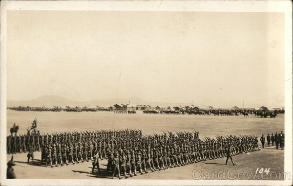 Military Marching in Formation