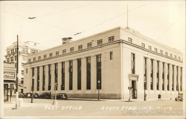 Street View of Post Office South Bend Indiana