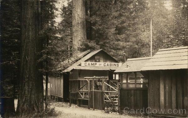 Monte Rio Ca >> Rare Bohemian Grove Camp of Cabins Monte Rio, CA Postcard