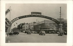 Street Scene and Welcome Arch