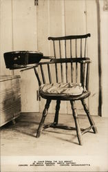 Chair (from the Old Manse) in which Emerson Wrote Nature