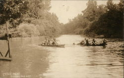 On the River at Gypsy Camp Postcard