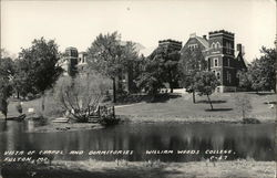 Vista of Chapel and Dormitories - William Woods College Postcard