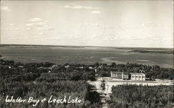Aerial View of Walker Bay on Leech Lake with Building