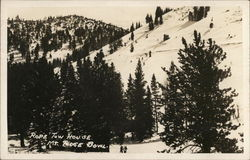 Rope Tow House, Mt. Rose Bowl - Snow-Covered Slope Postcard