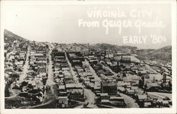 Virginia City from Geiger Grade, early '80s