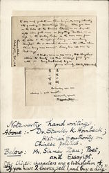Hand-Written Pages of Letter by G. T. Moule Postcard