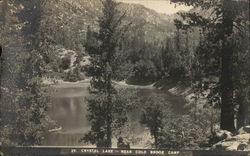 Crystal Lake, Near Cold Brook Camp - Lake and Mountans