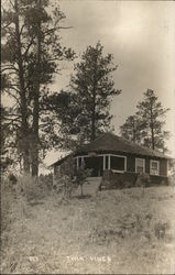 Twin Pines: Cabin on HIll Near Pine Trees