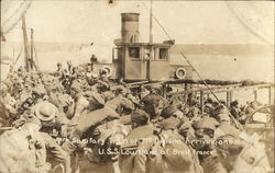 Sanitary Train of 7th Division Arriving on Boat U.S.S. Louisiana, at Brest France