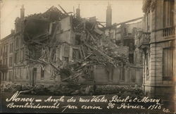 Partially Demolished Building Showing WWI Damage in France