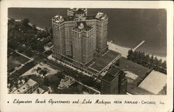 Edgewater Beach Apartments and Lake Michigan from Airplane