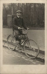 "Early Bicycle Delivery ""W. Otto"""