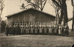 Group of German Soldiers Standing In Front of Building March 29, 1916