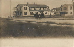 Houses Near Road with Horse and Buggy Passing By, Cape Cod