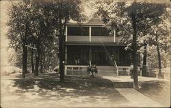Two-Story Home with Porches near Powers Lake Postcard