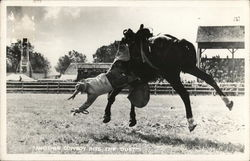 "Cowboy Falling Off Horse - ""Another Cowboy Hits the Dust"""