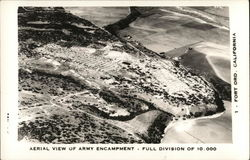 Aerial View of Army Encampment - Full Division of 10,000