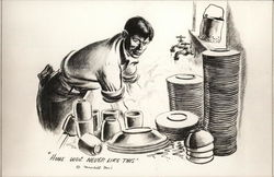 Soldier Washing Large Stacks of Dishes