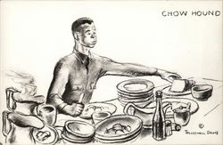 """Chow Hound"" - Army Recruit Eating"