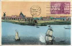 Nieuw Amsterdam from the Seaside, 1656 - New York 300th Anniversary