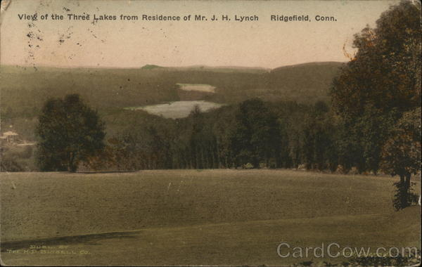 View of Three Lakes from Residence of Mr JH Lynch Ridgefield Connecticut